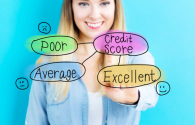 which is least important to maintaining a healthy credit score?